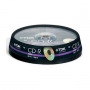 TDK CD-R Audio 700MB 40x Speed 80min - Spindle of 10